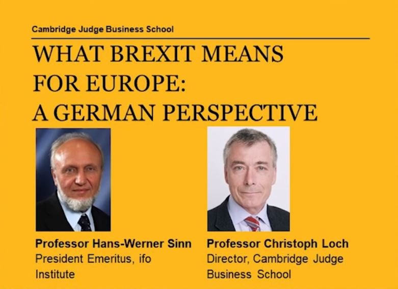 poster lecture cambridge university brexit